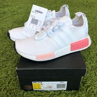 BNWT Authentic Adidas NMD R1 White/Pink US6 Uk4.5