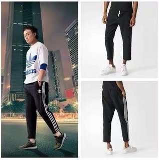Adidas 男款九分褲 運動褲 休閒運動褲