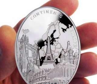 歐洲大陸 2 oz 精製銀幣 2013 Niue Europe of Continents series Silver Coin