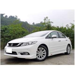 全額貸款-2014年 新喜美九代 K14 1.8VTI-S 只跑1萬多公里保證里程