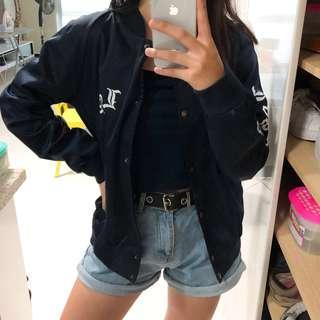 bnwot brandy melville la navy bomber jacket