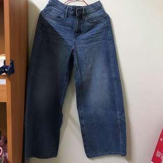 🚚 Uniqlo牛仔寬褲