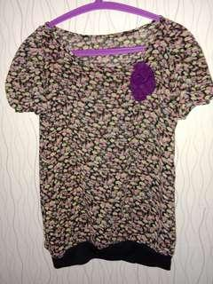 Blouse rose purple