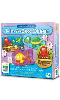 🚚 The Learning Journey My First Puzzle Set 4-In-A-Box, Puzzles Ocean