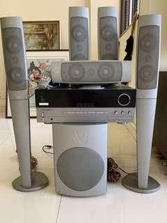 🚚 Harman Kardon AVR 330 amplifier with infinity speakers