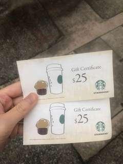 包郵!Starbucks Coupon$40/2