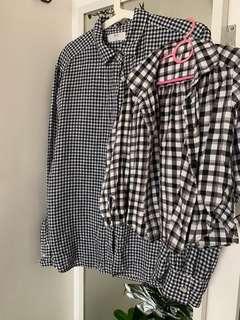 🚚 Checkered blouse Mum & daughter bundle