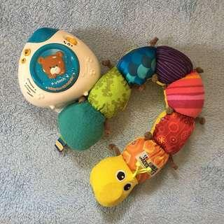 VTECH Lullaby Projector & Lamaze Inch Worm