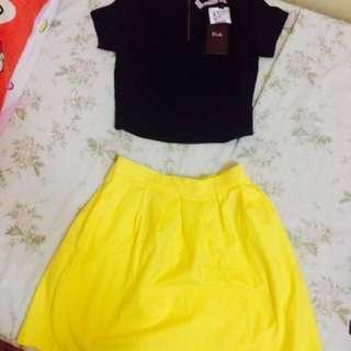 Bershka Top and Stradivarius Skirt