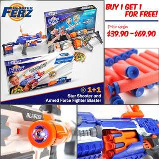 Buy 1 Get 1 for FREE, Ferz Blaster, Star Shooter, Armed Force Fighter, Electronic Big Guns