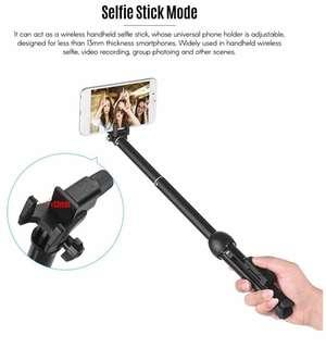 YUNTENG雲騰 VCT-992 電話自拍棍三腳架連藍牙遙控 Portable Mini Cellphone Selfie Stick Tabletop Tripod Stand With Bluetooth For Hiking Photography Picnic Camping Traveling Gathering Outdoor For iPhone Samsung Nokia Huawei Sony HTC LG