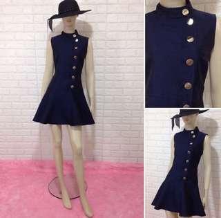 Korean Button-down Chic Dress