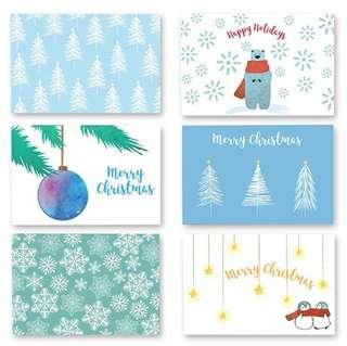 🚚 Winter Holiday Blank Christmas Greeting Cards Gold Foil Design Box-set of 36