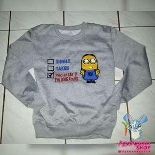Jaket Sweater Bordir Minions