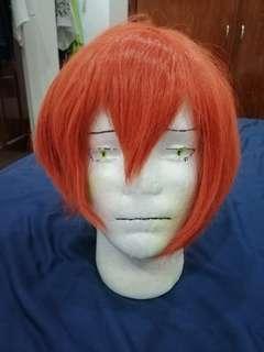 Red-orange cosplay wig