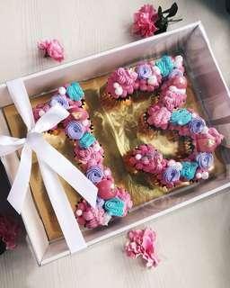 Monogram Mini Cupcakes