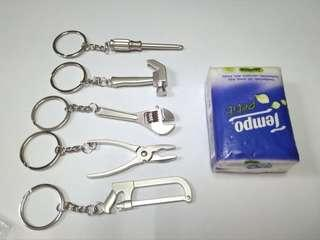 miniature tools keychain 5pcs set 工具模型鎖匙扣