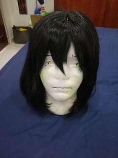 Black shoulder length wig