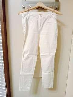 🚚 [Mooncat購入]白色西裝長褲(S)
