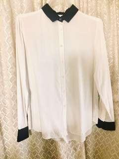 日式品牌高品質純棉白襯衫9.9成新