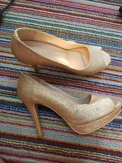 High Heels Mewah Gold