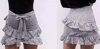 Ginghams mini wrap skirt