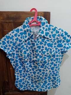 Blue Heart Shirt