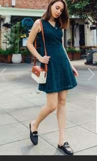 🚚 ACW Lace Swing Dress in Emerald (S)
