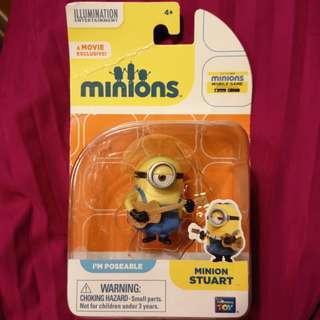 Minions figure 擺設 全新 扭蛋 minion Stuart 小黃人 迷你兵團