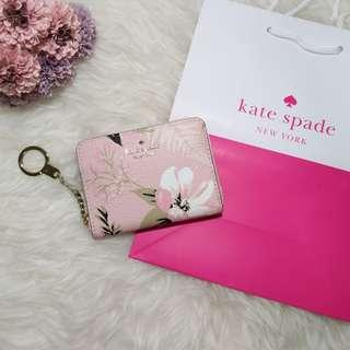 ♠️Kate Spade Briar Lane Botanical Dani Pink Small Wallet 短銀包