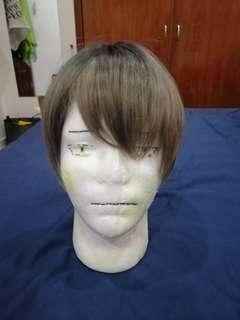 Short brown gradient cosplay wig