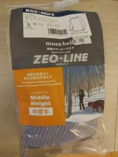 Mont-bell 男裝中厚手ZEO-LINE superior baselayer