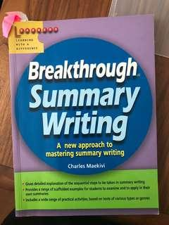 🚚 Breakthrough summary writing