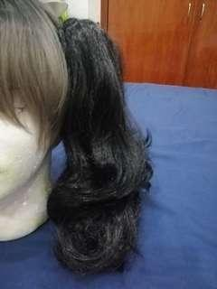 Clip on ponytail for cosplay wig