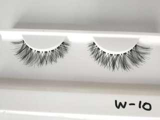 Human hair natural lashes