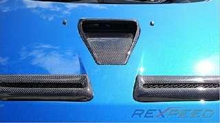 Rexpeed Mitsubishi Lancer Evolution / Evo X carbon fiber CF twin bonnet vent mesh