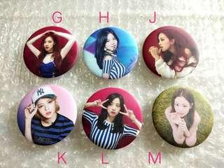 Black pink Badges