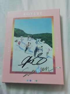 Seventeen signed boys be album