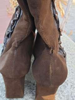 70s Brown knee high boots