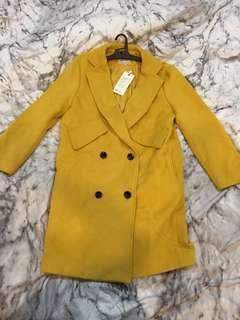 🚚 全新黃毛呢大衣 #半價衣服市集