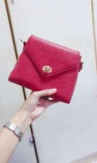🚚 Vintage Red Sling Bag