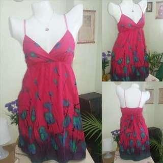 Floral Overlap Strap Dress