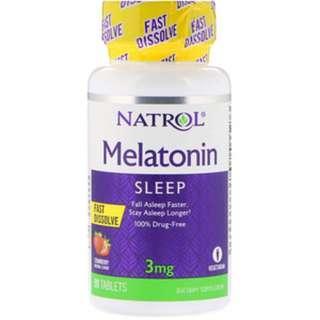 AVAIL Natrol, Melatonin, Fast Dissolve, Strawberry Flavor, 3 mg, 90 Tablets