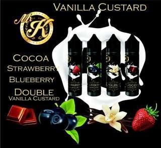 100% ORIGINAL Mr. K Custard Premium 60ml E-Juice E-Liquid Vape Juice