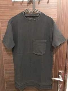 Kaos / Tshirt Pull&Bear Black Edition (Longfit)