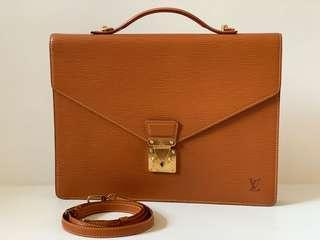 Authentic Louis Vuitton Brown Epi Leather Briefcase