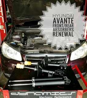 Hyundai Avante : Front & Rear Absorbers Replacements