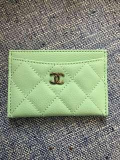 Chanel card holder 湖水綠(只有一個)
