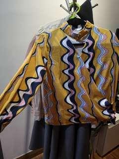 Top pattern long blouse