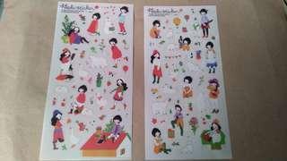 6 Sheets Heeda PVC Stickers